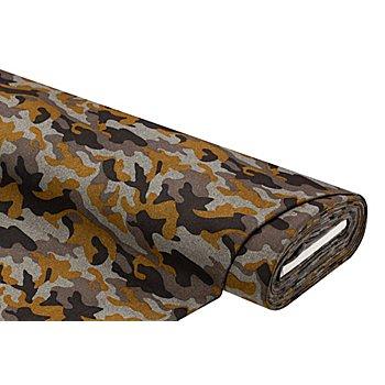 Tissu pour manteaux 'camouflage', gris/ocre