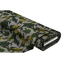 Mantelstoff 'Camouflage', grau/grün