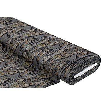 Mantelstoff 'Marmoriert', grau/ocker