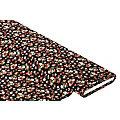 """Tissu viscose pour blouses / tissu javanaise """"fleurs"""", noir multicolore"""