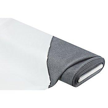 Scuba-Stretchstoff, grau-meliert