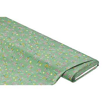Blusenstoff 'Blümchen', grün-color