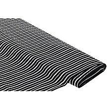 Stretch-Hosenstoff 'Streifen', schwarz/offwhite