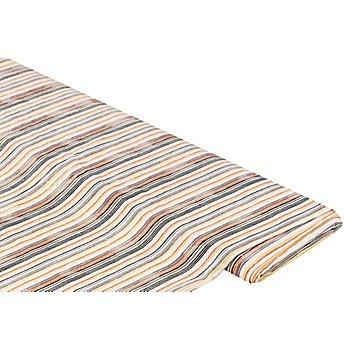 Viskose-Blusenstoff / Javanaise 'Streifen', beige-color