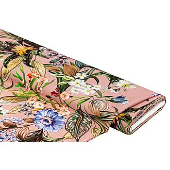 Leichter Crêpe 'Blüten', altrosa-color
