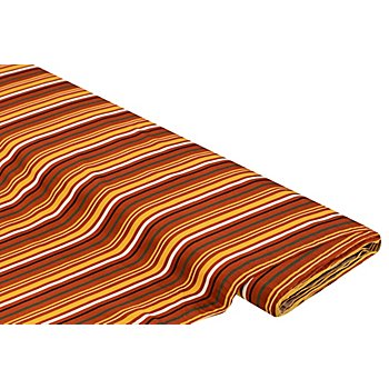 Baumwolljersey 'Stripes', rost-color