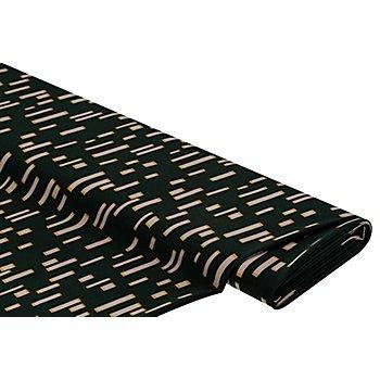 Tissu crêpe extensible, vert foncé multicolore