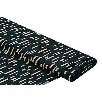 Tissu crêpe extensible, pétrole multicolore