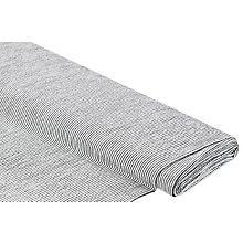 Seersucker 'Streifen', grau/weiss
