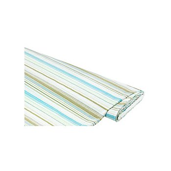 Tissu extensible 'rayures', turquoise/jaune/blanc
