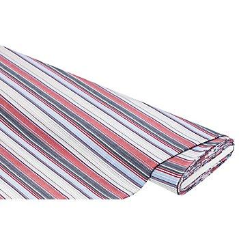 Blusen-Stretch 'Streifen', rot/blau/weiß