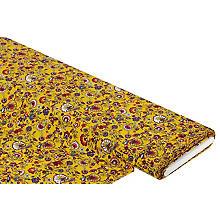 Viskose-Blusenstoff / Javanaise 'Blumen', gelb-color