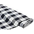 Tissu à carreaux, noir/blanc délavé/bleu