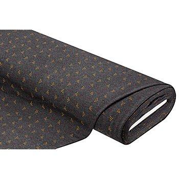 Sweatstoff 'Dreiecke', dunkelgrau-color