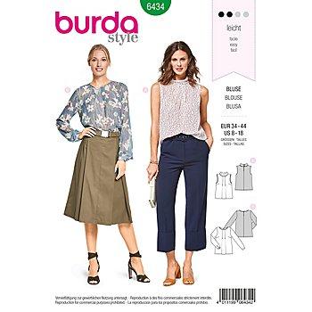 burda Patron 6434 'blouse à plis'