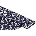 """Tissu jersey en coton """"fleurs"""" avec de l'élasthanne, bleu marine multicolore"""