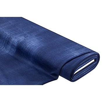 Elastik-Jersey im Jeans-Look, blau-melange