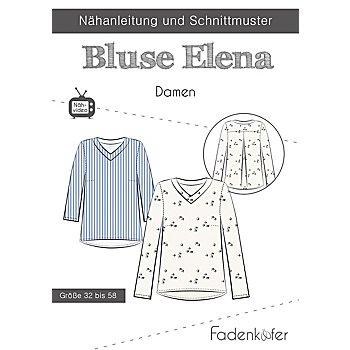 Fadenkäfer Schnitt 'Bluse Elena' für Damen