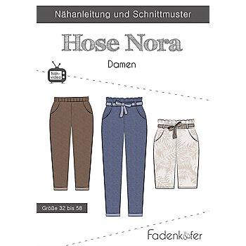 Fadenkäfer Schnitt 'Hose Nora' für Damen