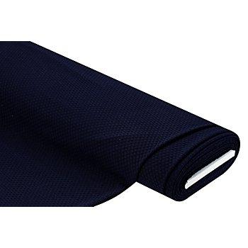 Tissu jersey extensible avec des noppes, bleu marine