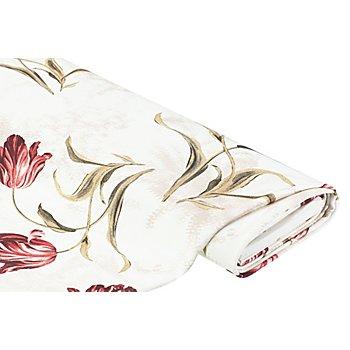 Elastik-Piqué 'Tulpen', offwhite-color