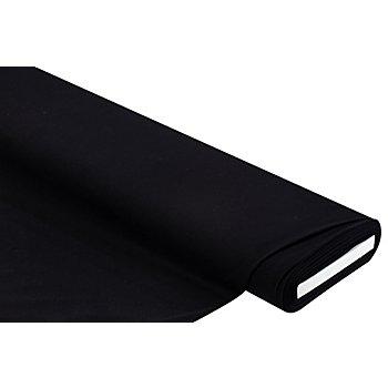 Tissu jersey en coton avec de l'élasthanne, noir