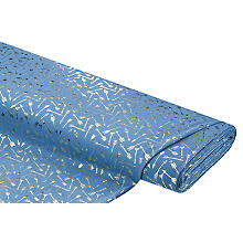 Tissu jersey en coton 'flèches' avec de l'élasthanne, bleu/doré