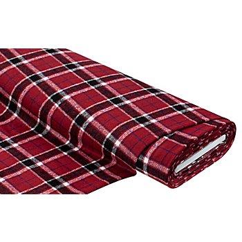 Tissu 'carreaux', rouge multicolore