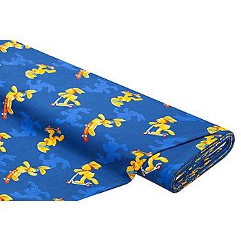 Tissu jersey en coton 'Félix' avec de l'élasthanne, bleu/multicolore
