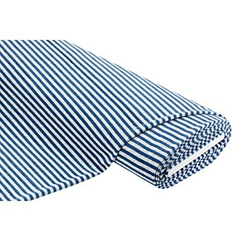 Tissu velours nicky 'rayures', bleu/gris