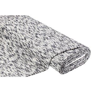 Tissu maille scintillant, noir/écru