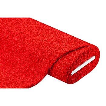 Strickstoff Bouclé-Optik, rot