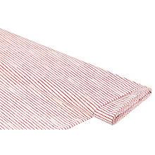 Baumwoll-Batist 'Streifen', weiß/rot