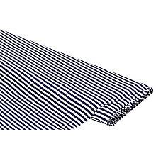 Baumwoll-Rippjersey 'Streifen' mit Elasthan, marine/weiß