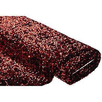 Tissu à paillettes scintillantes, rouge