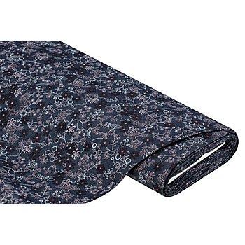 Hemdenjeans 'Blumen', dunkelblau-color