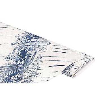 Tissu coton pour blouses, crème/bleu