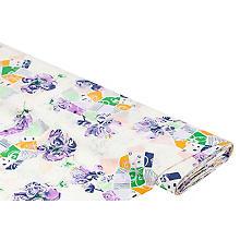 Blusenstoff 'Blumen' mit Ausbrenner-Optik, creme-color