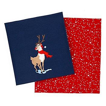 Coupon de tissu jersey en coton bio 'renne'