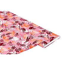 Viskose-Jersey 'Blumen', rosa/rot