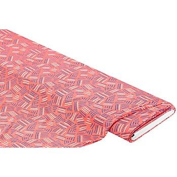 Viskose-Jersey 'Striche', koralle-color