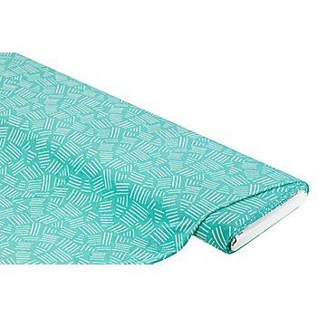Viskose-Jersey 'Striche', grün-color