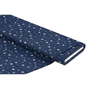 Elastik-Jeans 'Sterne', blau/grau