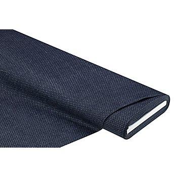 Tissu jeans extensible 'pois scintillants', bleu/argenté