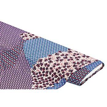 Elastik-Jersey 'Muster-Mix', lila/blau