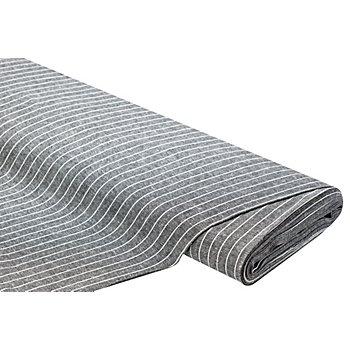 Tissu viscose/lin 'rayures', noir/blanc