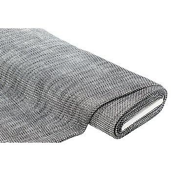 Tissu avec fil scintillant argenté, noir/blanc