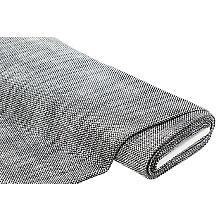 Webstoff mit Silber-Glitzer, schwarz/weiß