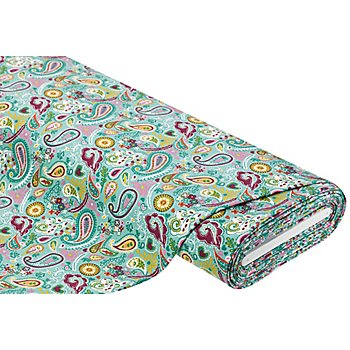 Sweat / French Terry 'Paisley', mint-color