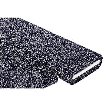 Viskose-Blusenstoff 'Ecken' mit Crinkle-Struktur, marine/weiß